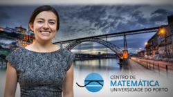 Eliana Duarte and Centro de Matemática logo with Porto, Portugal in the background