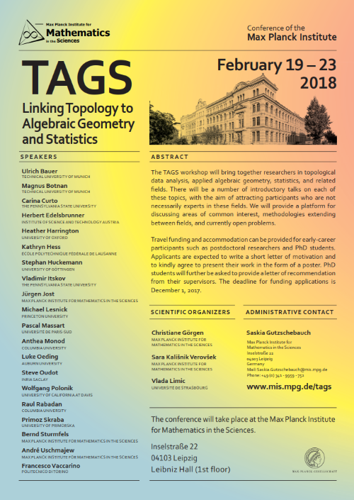 TAGS - Linking Topology to Algebraic Geometry and Statistics