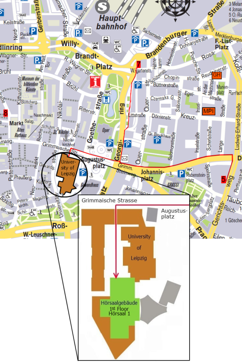 Leipzig Map with university